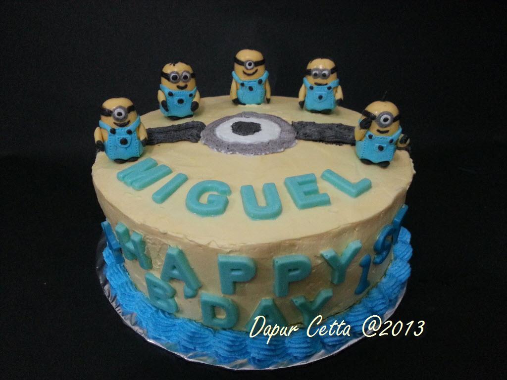 Cake Ulang Tahun Minion Dapur Cetta